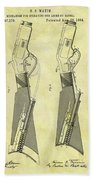1884 Rifle Stock Patent Beach Towel