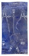 1886 Calipers Patent Blue Beach Towel