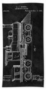 1891 Locomotive Engine Patent Beach Towel