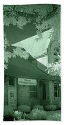 1891 Railroad Depot 2 Beach Towel