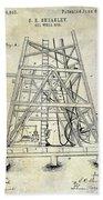 1893 Oil Well Rig Patent Beach Sheet