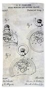 1893 Pocket Watch Patent Beach Towel