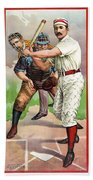 1895 In The Batters Box Beach Towel