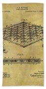 1896 Chess Set Patent Beach Towel