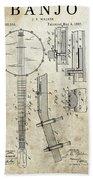 1897 Banjo Patent Beach Towel