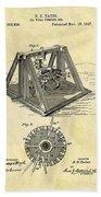 1897 Oil Rig Patent Beach Towel