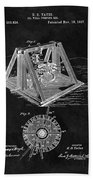 1897 Oil Well Rig Patent Design Beach Towel