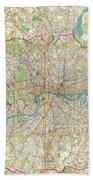 1899 Bartholomew Fire Brigade Map Of London England  Beach Towel
