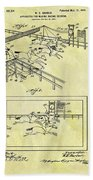 1899 Horse Racing Track Patent Beach Towel