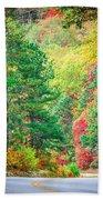 Autumn Season On Blue Ridge Parkway Beach Towel