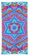 Birth Mandala- Blessing Symbols Beach Towel