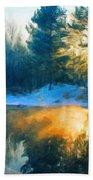 Nature Oil Paintings Landscapes Beach Towel