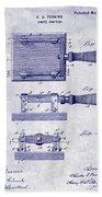 1900 Knife Switch Patent Blueprint Beach Towel