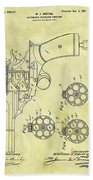 1901 Automatic Revolver Patent Beach Towel