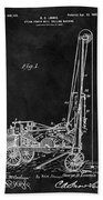 1902 Oil Well Patent Beach Towel