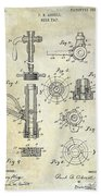 1903 Beer Tap Patent Beach Sheet