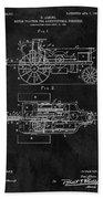 1903 Tractor Blueprint Patent Beach Sheet