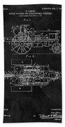 1903 Tractor Blueprint Patent Beach Towel