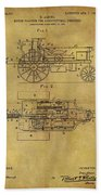 1903 Tractor Patent Beach Towel