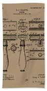 1904 Gillette Razor Patent Drawing Beach Towel