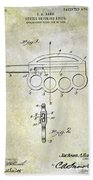 1906 Oyster Shucking Knife Patent Beach Towel