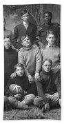 1908 Football Team Beach Towel