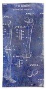 1911 Mechanical Skeleton Patent 1 Blue Beach Towel