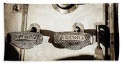 1911 Pope Hartford Model W Control Pedals -135s Beach Towel