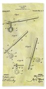 1913 Wrench Patent Beach Towel