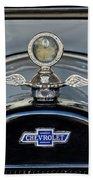 1915 Chevrolet Touring Hood Ornament 2 Beach Towel