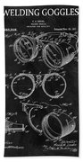 1917 Welder Goggles Beach Towel