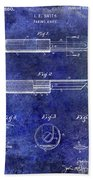 1920 Paring Knife Patent Blue Beach Towel
