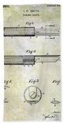 1920 Paring Knife Patent Beach Towel
