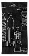 1921 Barber Pole Illustration Beach Towel