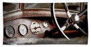 1921 Bentley Steering Wheel -0454ac Beach Towel