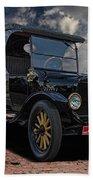 1923 Model T Ford Truck Beach Towel