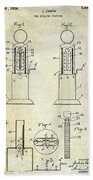 1926 Toy Filling Station Patent Beach Towel