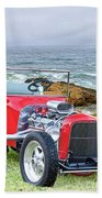 1927 Ford T Bucket Roadster 'on The Greens' Beach Towel