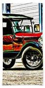 1927 Model T Ford Roadster Beach Towel