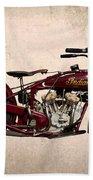1928 Indian Motorcycle Beach Towel