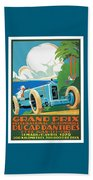 1929 Cap D'antibes Grand Prix Racing Poster Beach Towel