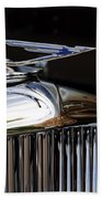 1929 Duesenberg Model J Hood Ornament Beach Towel