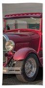 1929 Ford Model A Tudor Sedan Beach Towel by Gene Healy