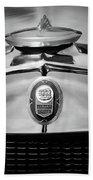 1929 Graham-paige Sport Roadster Emblem -0810bw Beach Towel