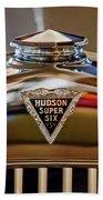 1929 Hudson Cabriolet Hood Ornament Beach Towel
