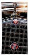 1930 Cadillac Roadster Hood Ornament 3 Beach Towel