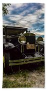 1930 Chevy On The Shore Of Higgins Lake Beach Towel