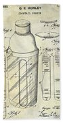 1930 Cocktail Shaker Patent Beach Towel