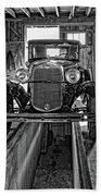 1930 Model T Ford Monochrome Beach Towel