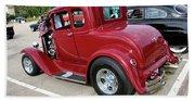 1930 Red Ford Model A-rear-8902 Beach Towel